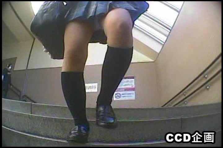 【無料エロ動画】ミニスカ制服で何も気にせず階段使う女子校生の後をつけ生足からの大量パンチラ盗撮しちゃいましたww